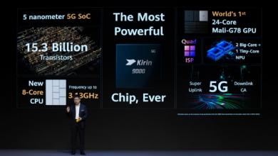 """صورة هواوي P50 سيحمل معالج كيرين 9000 وشاشة OLED كورية """"تسريبات"""""""